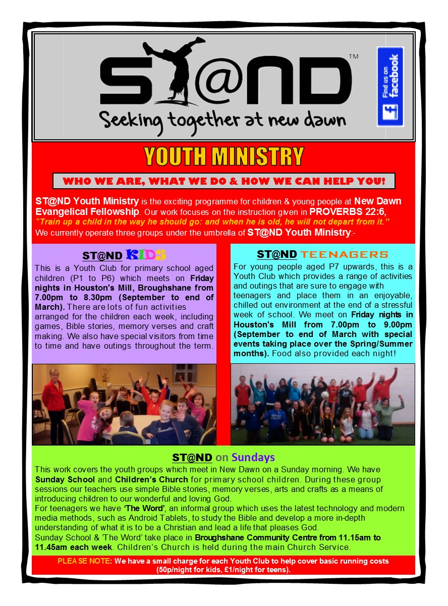 ST@ND Information Leaflet Front